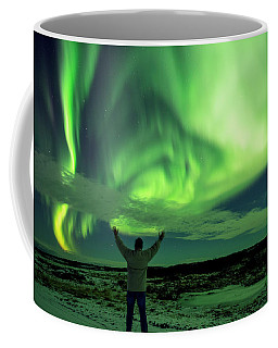 Coffee Mug featuring the photograph Northern Light In Western Iceland by Dubi Roman