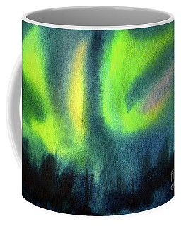 Coffee Mug featuring the painting Northern Lights 3 by Kathy Braud