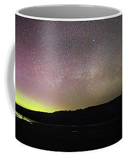 Northern Lights And Milky Way In Yellowstone Np Coffee Mug