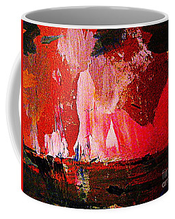 Coffee Mug featuring the painting Northern Lights Imagined by Nancy Kane Chapman