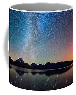 Northern Lights Over Jackson Lake Coffee Mug