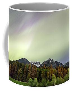 Northern Lights Over Overlander Mountain Coffee Mug