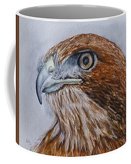 Coffee Mug featuring the painting Northern Red Tailed Hawk by Kelly Mills