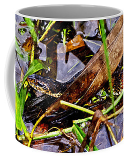 Coffee Mug featuring the mixed media Northern Water Snake by Olga Hamilton