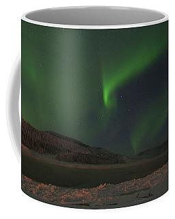 Coffee Mug featuring the photograph Northern Yukon Lights 6 by Phyllis Spoor