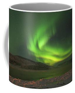 Coffee Mug featuring the photograph Northern Yukon Lights 7 by Phyllis Spoor