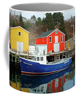 Northwest Harbour, Nova Scotia, Canada In Winter Coffee Mug