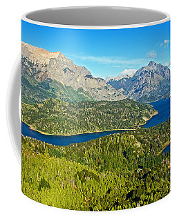 Northwest View From Campanario Hill Near Bariloche-argentina   Coffee Mug