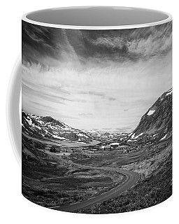 Norway Landscape In Black And White Coffee Mug