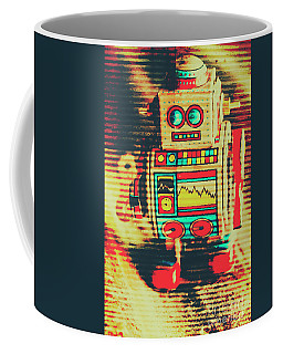 Nostalgic Tin Sign Robot Coffee Mug
