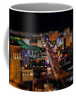 Coffee Mug featuring the photograph Not Everything Stays In Vegas - Tiltshift by Ericamaxine Price