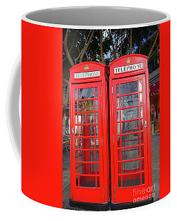 Not Quite Identical Twin Phone Boxes In Gibraltar Coffee Mug