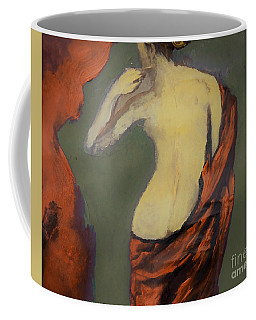 Coffee Mug featuring the painting Not So Nude by Lisa Kaiser