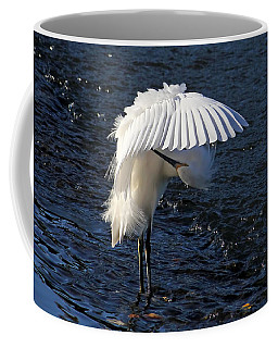Coffee Mug featuring the photograph Not Under Here - Birds - Snowy Egret by HH Photography of Florida