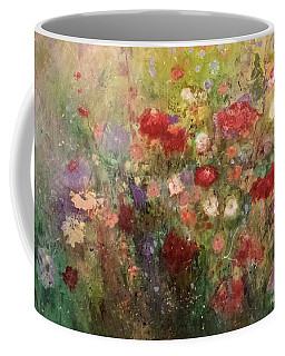 Coffee Mug featuring the painting Nothing But Flowers by Frances Marino