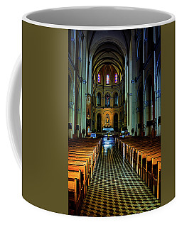 Coffee Mug featuring the photograph Notre Dame Cathedral Saigon by Joseph Hollingsworth