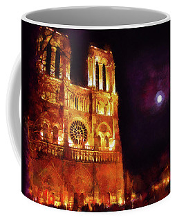 Notre Dame In The Autumn Moonlight Coffee Mug