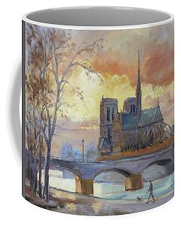 Notre Dame - Sunset, Paris Coffee Mug by Irek Szelag