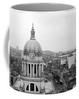 Nottingham City View, Uk Coffee Mug by Ieva Kambarovaite