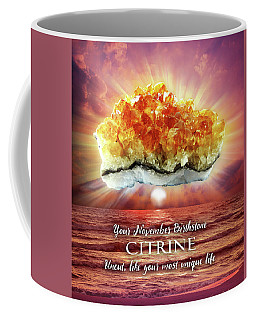 November Birthstone Citrine Coffee Mug