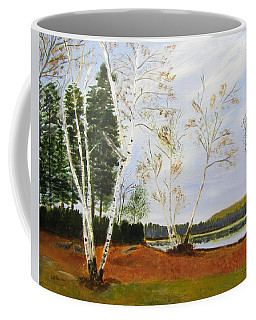 Coffee Mug featuring the painting November Day by Linda Feinberg