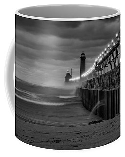 November Gales In Grand Haven Coffee Mug