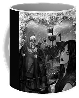 Now Or Never - Black And White Fantasy Art Coffee Mug