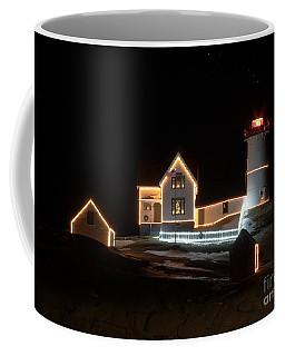 Nubble At Night Coffee Mug