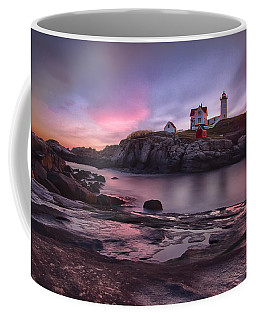 Nubble Lighthouse At Sunrise York Me Coffee Mug