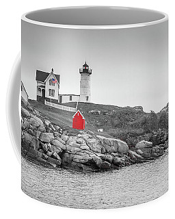 Nubble Lighthouse In Color And Black And White Coffee Mug