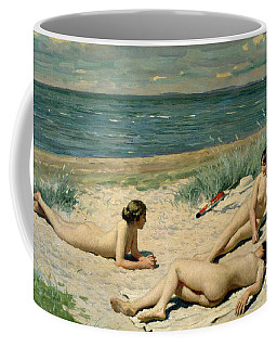 Nude Bathers On The Beach Coffee Mug