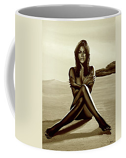 Nude Beach Beauty Sepia Coffee Mug