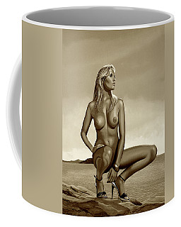 Nude Blond Beauty Sepia Coffee Mug