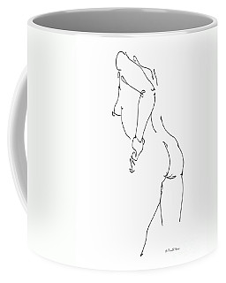 Coffee Mug featuring the drawing Nude Female Drawings 11 by Gordon Punt