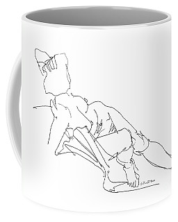 Coffee Mug featuring the drawing Nude Female Drawings 3 by Gordon Punt