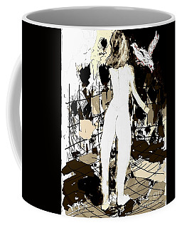 Nude Girl And The Bird Coffee Mug