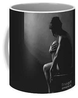 Coffee Mug featuring the digital art Nude Sitting by Dragica Micki Fortuna