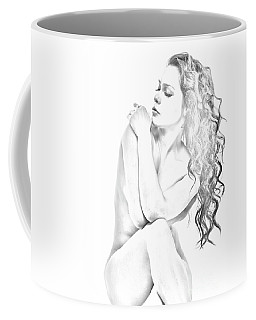 Nude Sketch Coffee Mug by Kiran Joshi