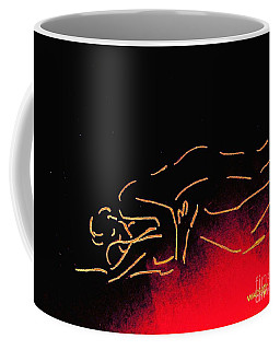 Nude Sleeping Couple Coffee Mug