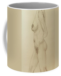 Nude Torso Standing Coffee Mug by Rand Swift