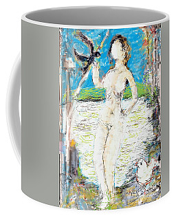 Nude With Bird Coffee Mug