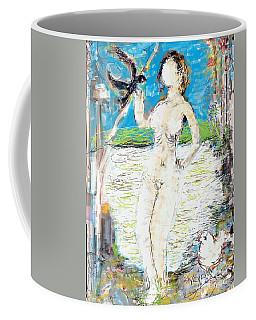 Nude With Bird Coffee Mug