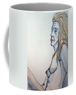 Nude With Blues Coffee Mug by Rand Swift