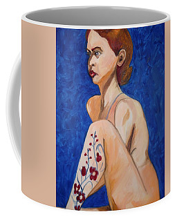 Nude With Flower Tatoo Coffee Mug