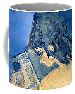 Nude With Nose In Book Coffee Mug