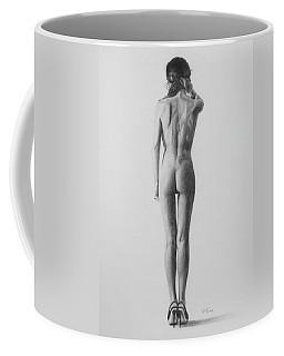 Nude Woman In High Heels Drawing Coffee Mug