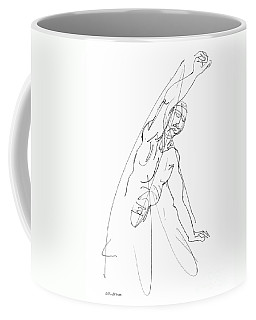 Coffee Mug featuring the drawing Nude_male_drawing_25 by Gordon Punt