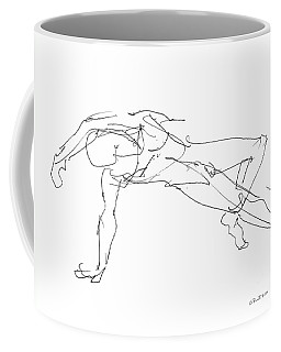 Coffee Mug featuring the drawing Nude_male_drawings_23 by Gordon Punt