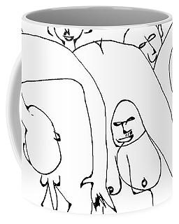 Nudist Yoga Class Coffee Mug