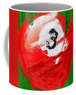 Number Three Billiards Ball Abstract Coffee Mug